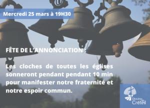 Mercredi 25 Mars: Message des Evêques de France