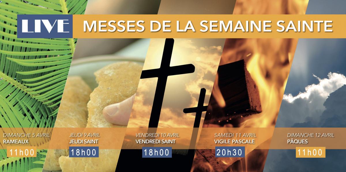 """Cérémonies de la Semaine Sainte (retransmises en """"direct"""")"""