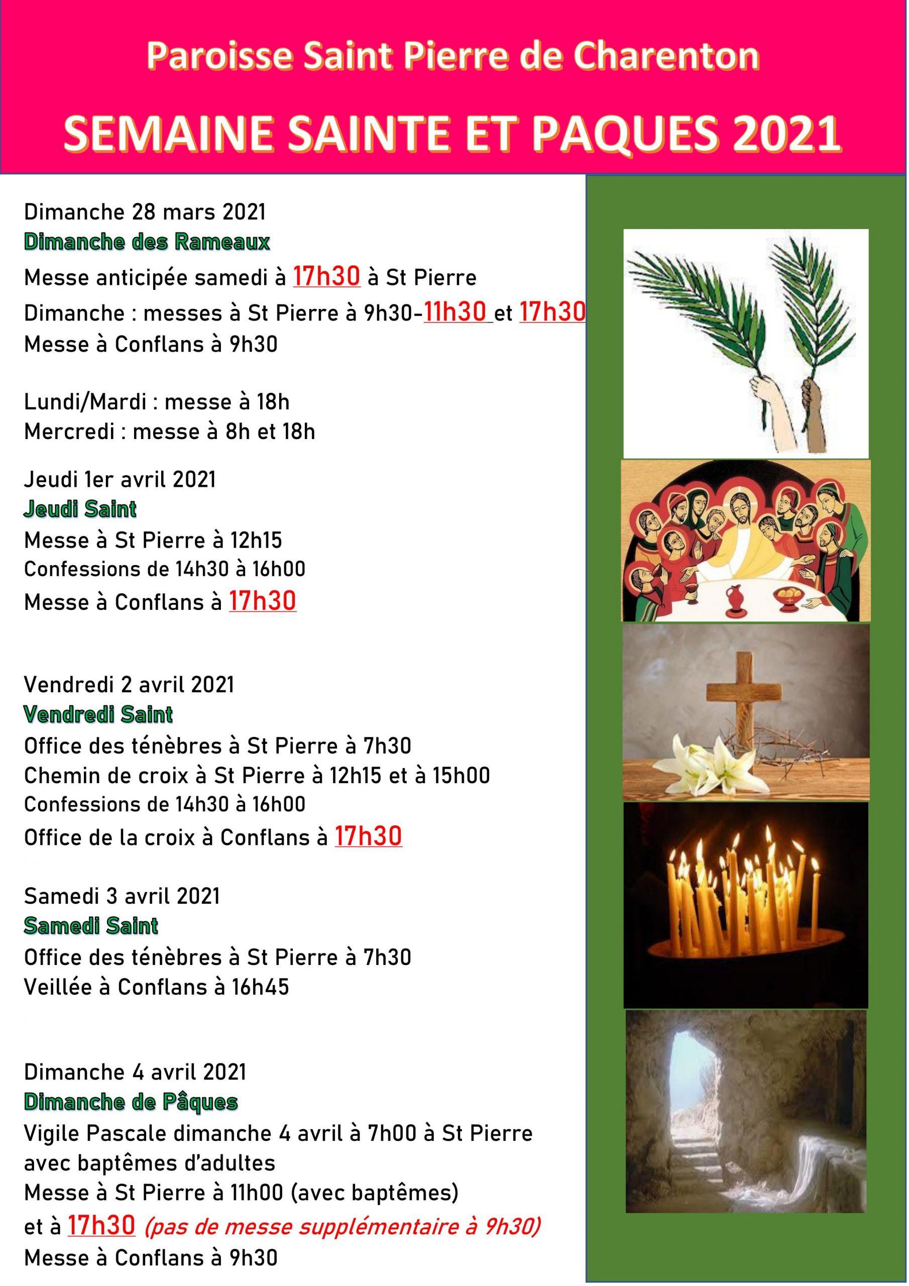 Retrouvez les horaires des célébrations de la Semaine Sainte.
