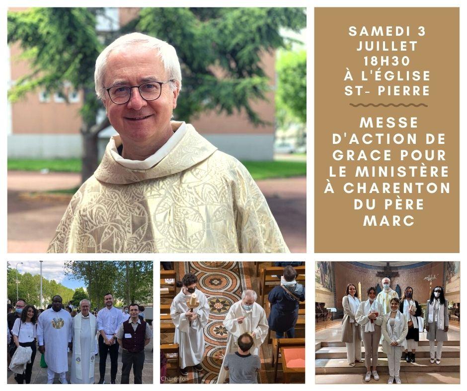 Le Père Marc  est appelé à partir du 1er septembre à rejoindre la paroisse Notre Dame de Vincennes.